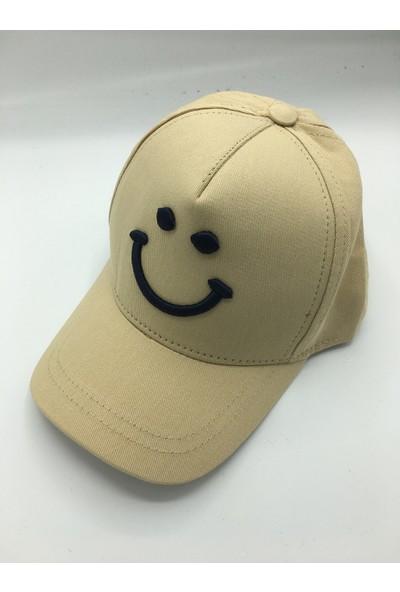 Gonca Şapka Çocuk Ayarlanabilir Nakışlı Şapka Bej