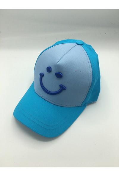 Gonca Şapka Çocuk Ayarlanabilir Nakışlı Şapka Turkuaz