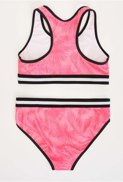 DeFacto Kız Çocuk Baskılı Bikini Takım