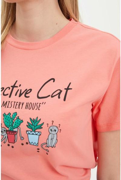 DeFacto Baskı Detaylı Kısa Kollu T-Shirt