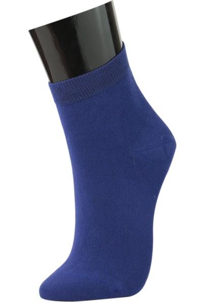 Roff Y.k. Düz Bamboo Kadın Soket Çorabı 6'lı Sax