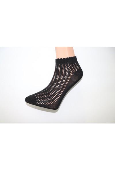 Saby Kadın Özel Üretim Fileli Hava Alabilen Çorap 4'lü