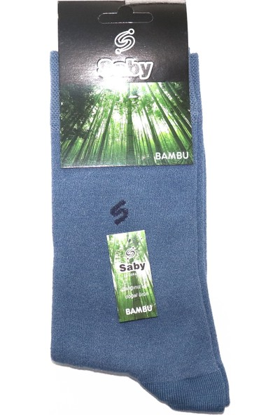 Saby 5 Li Erkek Dikişsiz Bambu Çorabı