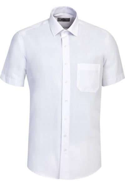 Kiğılı Kısa Kol Klasik Gömlek