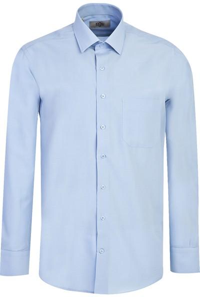 Kiğılı Uzun Kol Klasik Gömlek