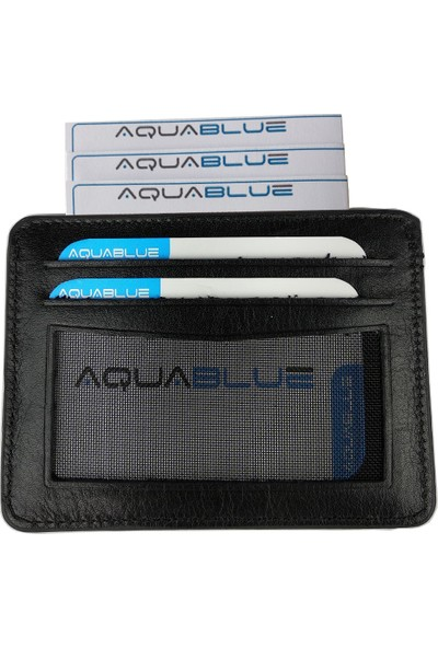 Aqua Blue Kişiye Özel Deri Kartlık Erkek Cüzdan