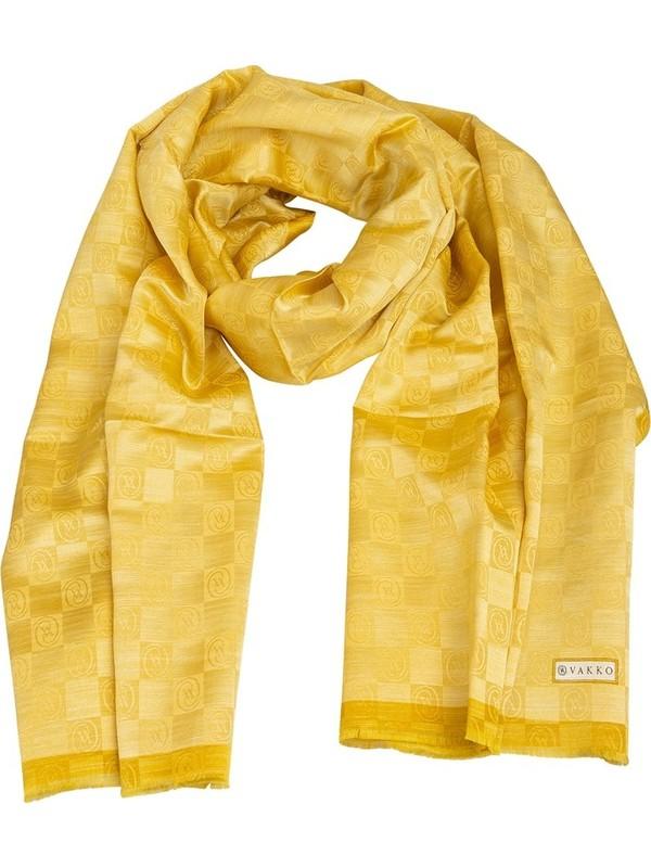 Vakko 868206172178 Kadın Şal Sarı