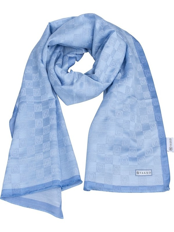 Vakko 868206172172 Kadın Şal Mavi