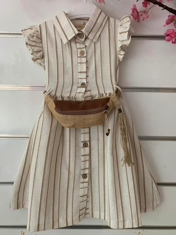 Dandini Bel Çantalı Kız Çocuk Otantik Elbise
