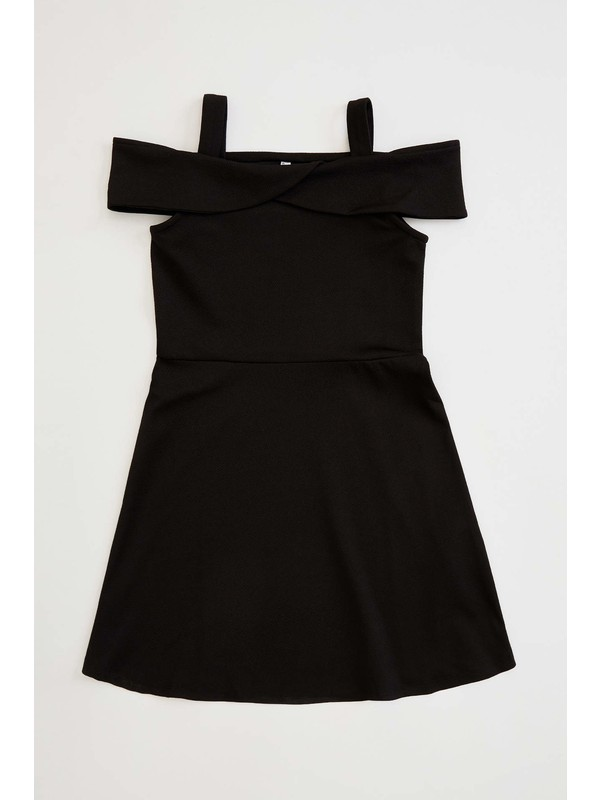 DeFacto Kız Çocuk Kalın Askılı Örme Elbise N9969A620SM