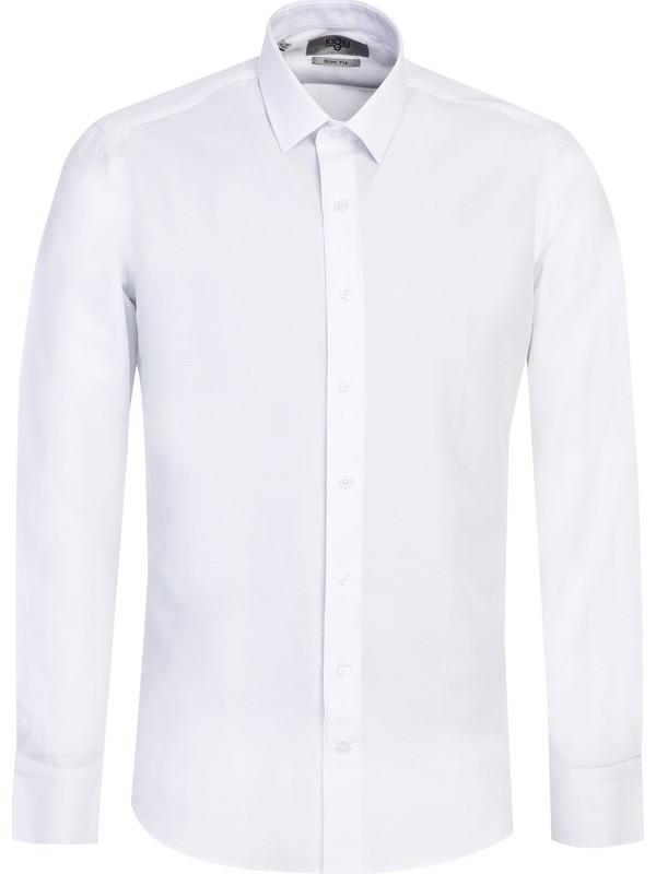 Kiğılı Uzun Kol Slim Fit Gömlek