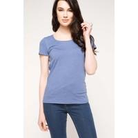 DeFacto Kadın Basic T-Shirt Koyu Mavi