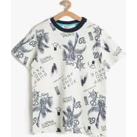 Koton Erkek Çocuk Baskılı T-Shirt Beyaz