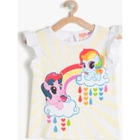 Koton Kız Çocuk My Little Ponny Baskılı T-Shirt Ekru