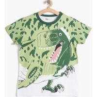 Koton Erkek Çocuk Baskılı T-Shirt Yeşil