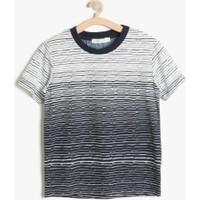 Koton Erkek Çocuk Desenli T-Shirt Lacivert