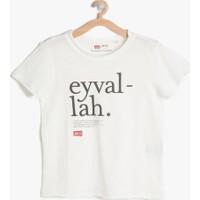 Koton Erkek Çocuk Lügat 365 Baskılı T-Shirt Ekru