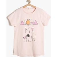Koton Kız Çocuk Baskılı T-Shirt Pembe