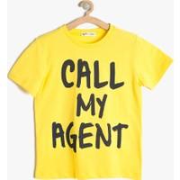 Koton Erkek Çocuk Yazılı Baskılı T-Shirt Sarı