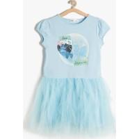 Koton Kız Çocuk Cinderella Baskılı Elbise Mavi