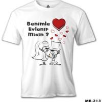 Lord T-Shirt Benimle Evlenir Misin Erkek T-Shirt