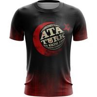 DenizAtı Atatürk Tişört T Shirt Dry Touch Kumaş Sıfır Yaka