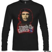 Lord T-Shirt Che Guevara - Flag Siyah Erkek T-Shirt