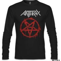 Lord T-Shirt Anthrax - Logo Siyah Erkek T-Shirt