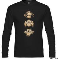 Lord T-Shirt Three Monkeys Siyah Erkek T-Shirt