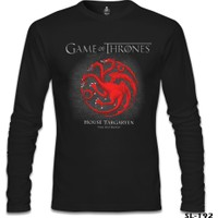 Lord T-Shirt Game Of Thrones - Fire And Blood Red Siyah Erkek T-Shirt
