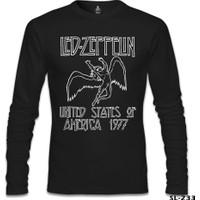 Lord T-Shirt Led Zeppelin - 1977 Siyah Erkek T-Shirt