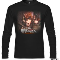 Lord T-Shirt Attack On Titan Siyah Erkek T-Shirt