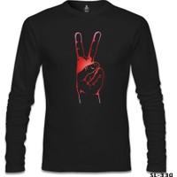 Lord T-Shirt Zafer İşareti Siyah Erkek T-Shirt