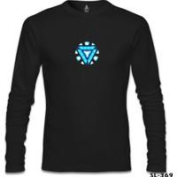Lord T-Shirt Arc Reactor 1 Siyah Erkek T-Shirt