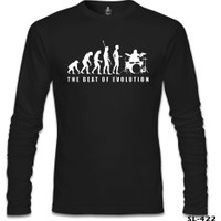 Lord T-Shirt Drummer - The Beat Of Evolution Siyah Erkek T-Shirt