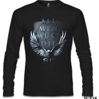 Lord T-Shirt Game Of Thrones - All Men Must Die Siyah Erkek T-Shirt