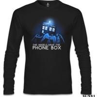 Lord T-Shirt Doctor Who - The Angels Have The Phone Box Siyah Erkek T-Shirt