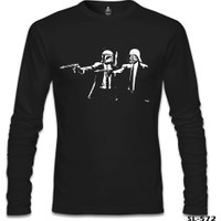 Lord T-Shirt Star Wars & Pulp Fiction Siyah Erkek T-Shirt