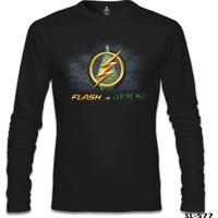 Lord T-Shirt Flash Vs Arrow Siyah Erkek T-Shirt