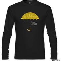 Lord T-Shirt How I Met Your Mother - Umbrella Siyah Erkek T-Shirt