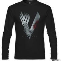 Lord T-Shirt Vikings Siyah Erkek T-Shirt