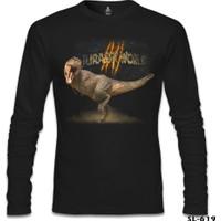 Lord T-Shirt Jurassic World T-Rex Siyah Erkek T-Shirt