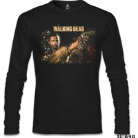 Lord T-Shirt The Walking Dead - Rick 2 Siyah Erkek T-Shirt