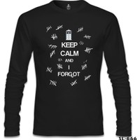 Lord T-Shirt Dr. Who - Keep Calm And İ Forgot Siyah Erkek T-Shirt