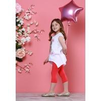 Zeyland Kız Çocuk Beyaz Tunik + Tayt Takım - 71Z4CBT76