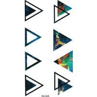 Hane14 Triangles Üçgenler Geçici Dövme