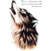 Hane14 Wolf Uluyan Kurt Büyük Geçici Dövme