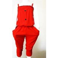 Ertuğ İp Askılı Yazlık Kız Çocuk Elbise Kırmızı