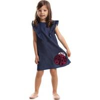 Mushi Uğurböceği Fırfırlı Kot Elbise MS-17Y2-010
