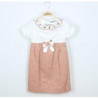 Piccolo Kız Çocuk Elbise İnci Süslemeli Yaka 8 Yaş (128 cm)